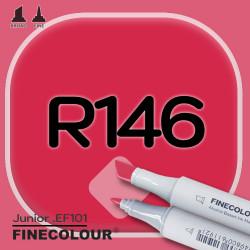 Маркер FINECOLOR Junior R146 Глубокий красный цвет двухсторонний