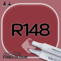 Маркер FINECOLOR Junior R148 Темно-красный двухсторонний