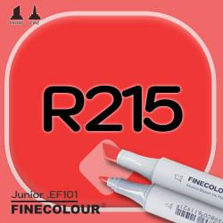 Маркер FINECOLOR Junior R215 Алый двухсторонний