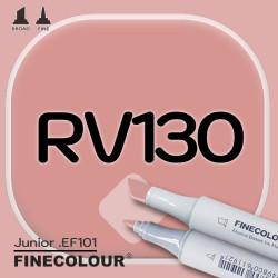 Маркер FINECOLOR Junior RV130 Коричнево-розовый двухсторонний