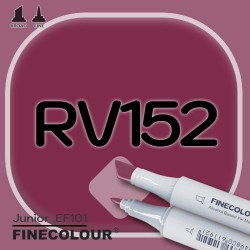 Маркер FINECOLOR Junior RV152 Аргиль фиолетовый двухсторонний