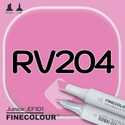 Маркер FINECOLOR Junior RV204 Малиновый двухсторонний