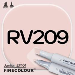 Маркер FINECOLOR Junior RV209 Темная роза двухсторонний
