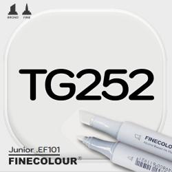 Маркер FINECOLOR Junior TG252 Серый тонер №2 двухсторонний