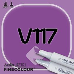 Маркер FINECOLOR Junior V117 Фиолетовый глубокий двухсторонний