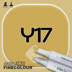 Маркер FINECOLOR Junior Y17 Бледная охра двухсторонний