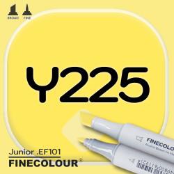 Маркер FINECOLOR Junior Y225 Кислотный желтый двухсторонний