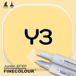 Маркер FINECOLOR Junior Y3 Желтый двухсторонний