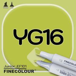 Маркер FINECOLOR Junior YG16 Темно-желтовато зеленый двухсторонний