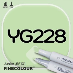 Маркер FINECOLOR Junior YG228 Кислотный зеленый двухсторонний