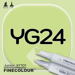 Маркер FINECOLOR Junior YG24 Серовато-зеленый двухсторонний