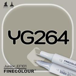 Маркер FINECOLOR Junior YG264 Желтовато-серый №6 двухсторонний
