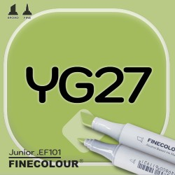 Маркер FINECOLOR Junior YG27 Травянистый двухсторонний