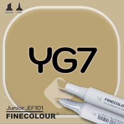 Маркер FINECOLOR Junior YG7 Темный золотистый двухсторонний