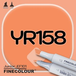 Маркер FINECOLOR Junior YR158 Оранжевый кадмий двухсторонний