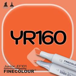 Маркер FINECOLOR Junior YR160 Светло-красновато-желтый двухсторонний
