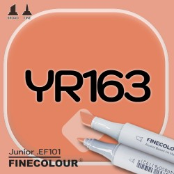 Маркер FINECOLOR Junior YR163 Ржавый красный двухсторонний