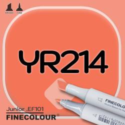 Маркер FINECOLOR Junior YR214 Красновато-оранжевый двухсторонний