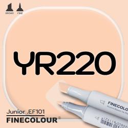 Маркер FINECOLOR Junior YR220 Абрикос двухсторонний