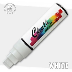 Маркер меловой Fat&Skinny Chalk 15 мм Белый (White)