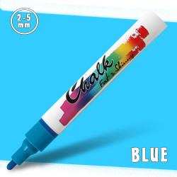 Маркер меловой Fat&Skinny Chalk 2-5 мм Синий (Blue)