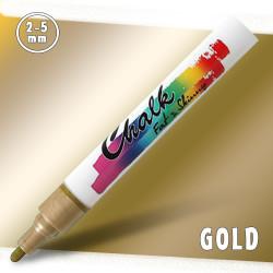 Маркер меловой Fat&Skinny Chalk 2-5 мм Золотой (Gold)