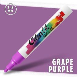 Маркер меловой Fat&Skinny Chalk 2-5 мм Виноградный фиолетовый (Grape Purple)