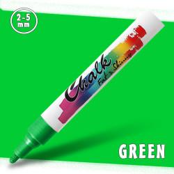 Маркер меловой Fat&Skinny Chalk 2-5 мм Зеленый (Green)