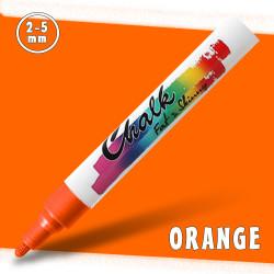 Маркер меловой Fat&Skinny Chalk 2-5 мм Оранжевый (Orange)