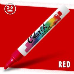 Маркер меловой Fat&Skinny Chalk 2-5 мм Красный (Red)