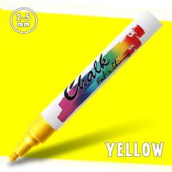 Маркер меловой Fat&Skinny Chalk 2-5 мм Желтый (Yellow)