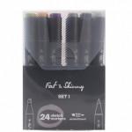 Набор скетч-маркеров Fat&Skinny Set 1 24 шт