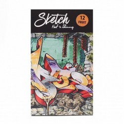 Набор sketch-маркеров Fat&Skinny 12 Fruit (Фрукты)