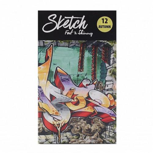 Набор sketch-маркеров Fat&Skinny 12 Autumn (Осенние цвета)