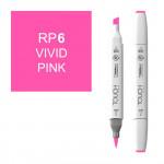 Маркер TOUCH BRUSH RP6 Розовый Яркий (Vivid Pink) двухсторонний на спиртовой основе