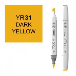 Маркер TOUCH BRUSH YR31 Желтый Темный (Dark Yellow) двухсторонний на спиртовой основе