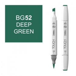 Маркер TOUCH BRUSH BG52 Зеленый Насыщенный (Deep Green) двухсторонний на спиртовой основе