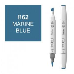Маркер TOUCH BRUSH B62 Синий Морской (Marine Blue) двухсторонний на спиртовой основе