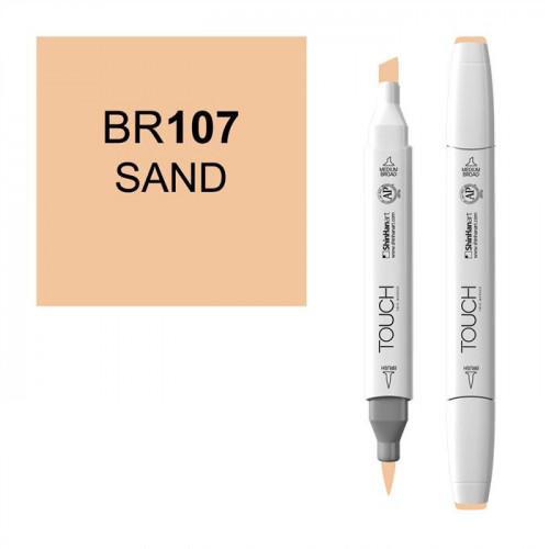 Маркер TOUCH BRUSH BR107 Песочный (Sand Sable) двухсторонний на спиртовой основе