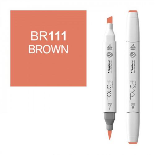 Маркер TOUCH BRUSH BR111 Коричневый (Brown) двухсторонний на спиртовой основе