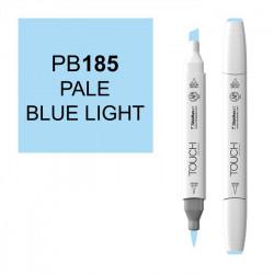 Маркер TOUCH BRUSH PB185 Синий Светлый Бледный (Pale Blue Light) двухсторонний на спиртовой основе