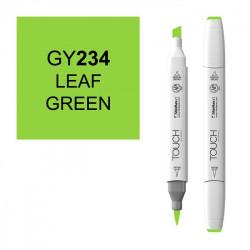Маркер TOUCH BRUSH GY234 Зеленая Листва (Leaf Green) двухсторонний на спиртовой основе