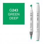 Маркер TOUCH BRUSH G243 Зеленый Насыщенный (Green Deep) двухсторонний на спиртовой основе