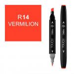 Маркер TOUCH Twin R14 Киноварь (Vermilion) двухсторонний наспиртовой основе