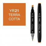 Маркер TOUCH Twin YR21 Терракотовый (Terra Cotta) двухсторонний наспиртовой основе