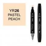 Маркер TOUCH Twin YR26 Персиковый Пастельный (Pastel Peach) двухсторонний наспиртовой основе
