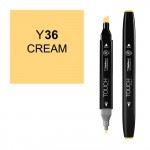 Маркер TOUCH Twin Y36 Кремовый (Cream) двухсторонний наспиртовой основе