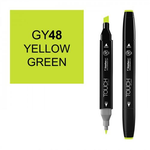 Маркер TOUCH Twin GY48 Желто-Зеленый (Yellow Green) двухсторонний наспиртовой основе