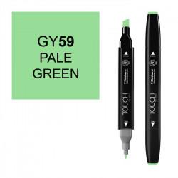 Маркер TOUCH Twin GY59 Зеленый Бледный (Pale Green) двухсторонний наспиртовой основе