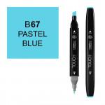 Маркер TOUCH Twin B67 Синий Пастельный (Pastel Blue) двухсторонний наспиртовой основе